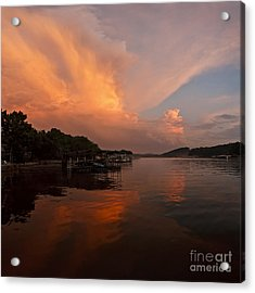 Sunset At Lake Of The Ozarks Acrylic Print
