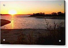 Sunset At Lake Skinner Acrylic Print by Glenn McCarthy