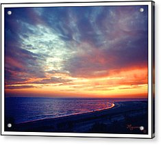 Acrylic Print featuring the photograph Sunset At Lido Key by Mariarosa Rockefeller