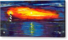 Sunset At Lighthouse Point Acrylic Print by Jessilyn Park