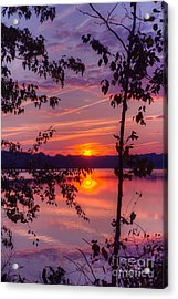 Sunset At Loch Raven Acrylic Print by ELDavis Photography