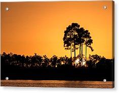 Sunset At Long Pine Key Pond Acrylic Print