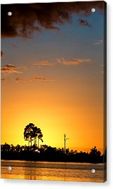 Sunset At Long Pine Key Vertical Acrylic Print
