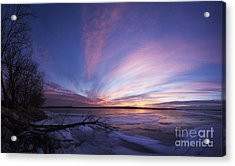 Sunset At Lovewell Lake Kansas Acrylic Print