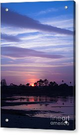 Sunset At Malibu Beach Lagoon Estuary Fine Art Photograph Print Acrylic Print by Jerry Cowart