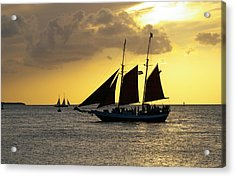 Sunset At Mallory Square II Acrylic Print