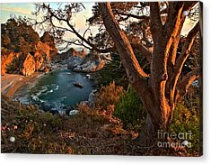 Sunset At Mcway Falls Acrylic Print