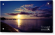 Sunset At Monkey Mia Acrylic Print
