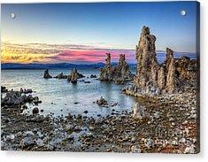 Sunset At Mono Lake Acrylic Print