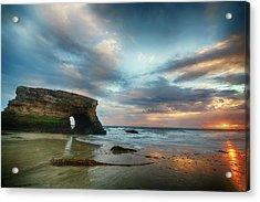 Sunset At Natural Bridges State Park Acrylic Print