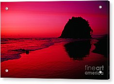 Sunset At Neskowin Beach- Proposal Rock Acrylic Print