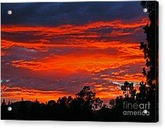 Sunset At Night Acrylic Print by Kenny Bosak