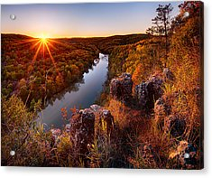 Sunset At Paint-rock Bluff Acrylic Print