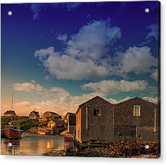 Sunset At Peggy's Cove 05 Acrylic Print