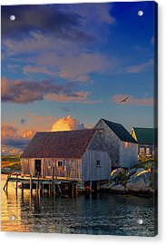 Sunset At Peggy's Cove 06 Acrylic Print