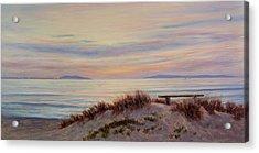 Sunset At Pierpont Beach Acrylic Print by Tina Obrien