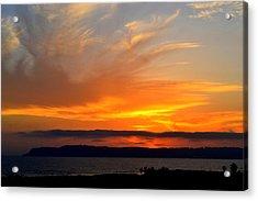 Sunset At Point Loma From Coronado California Acrylic Print