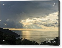 sunset at Quepos Acrylic Print by Russell Christie