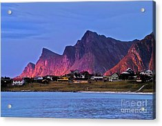 Sunset At Ramberg Acrylic Print by Heiko Koehrer-Wagner