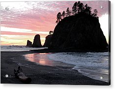 Sunset At Rialto Beach 1 Acrylic Print
