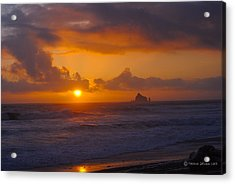 Sunset At Rialto Acrylic Print