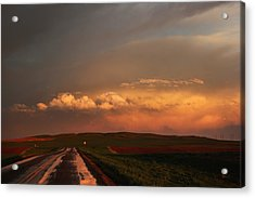 Sunset At Rockglen Acrylic Print