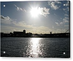 Acrylic Print featuring the photograph Sunset At Royal Albert Dock by Helene U Taylor