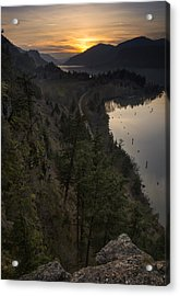 Sunset At Ruthton Point Acrylic Print