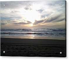 Sunset At San Gregorio Acrylic Print