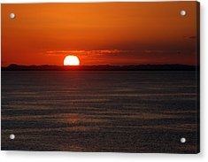 Acrylic Print featuring the photograph Sunset At Sea by Allen Carroll