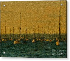 Sunset At Sea Cliff Acrylic Print by Jeff Breiman