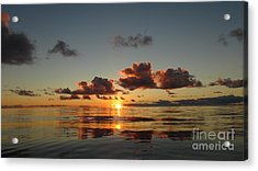Acrylic Print featuring the photograph Sunset At Sea by Laura  Wong-Rose