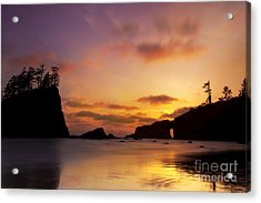Sunset At Second Beach Acrylic Print by Keith Kapple