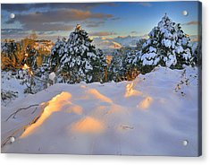 Sunset At Sierra Nevada Acrylic Print by Guido Montanes Castillo
