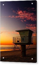 Sunset At South Carlsbad State Park Acrylic Print by Eric Foltz
