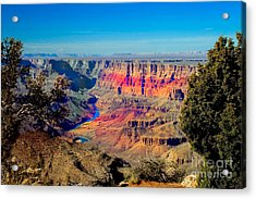 Sunset At South Rim Acrylic Print by Robert Bales