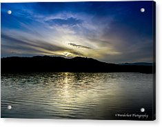 Sunset At South Tellico Lake Acrylic Print by Paul Herrmann
