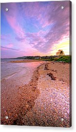 sunset at Stanley Beach. Acrylic Print