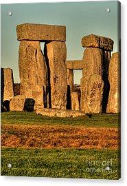 Sunset At Stonehenge 2 Acrylic Print by Deborah Smolinske