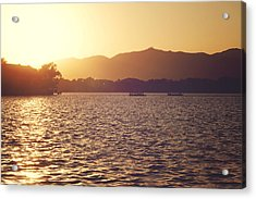 Acrylic Print featuring the photograph Sunset At Summer Palace by Yew Kwang