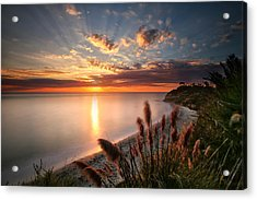 Sunset At Swamis Beach 7 Acrylic Print