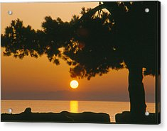 Sunset At The Beach Acrylic Print
