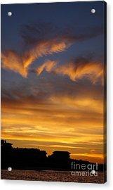 Sunset At The Beach Acrylic Print by Zori Minkova