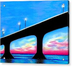 Sunset At The Bridge Acrylic Print