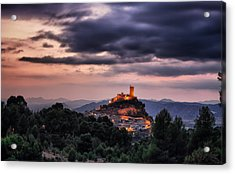 Sunset At The Castle Acrylic Print by Pedro Fernandez