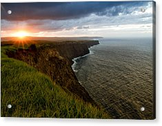 Sunset At The Cliffs Acrylic Print