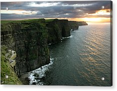 Sunset At The Cliffs Of Moher Ireland Acrylic Print by Pierre Leclerc Photography