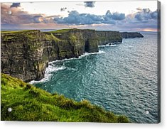 Sunset At The Cliffs Of Moher Acrylic Print