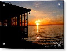 Sunset At The Crab Shack Acrylic Print