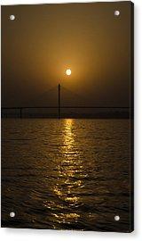 Sunset At The Ganga - Allahabad Acrylic Print by Rohit Chawla